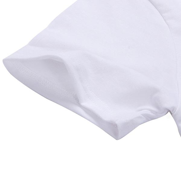 Love Dog Footprint Print Short Sleeve T-shirt NSYAY57678